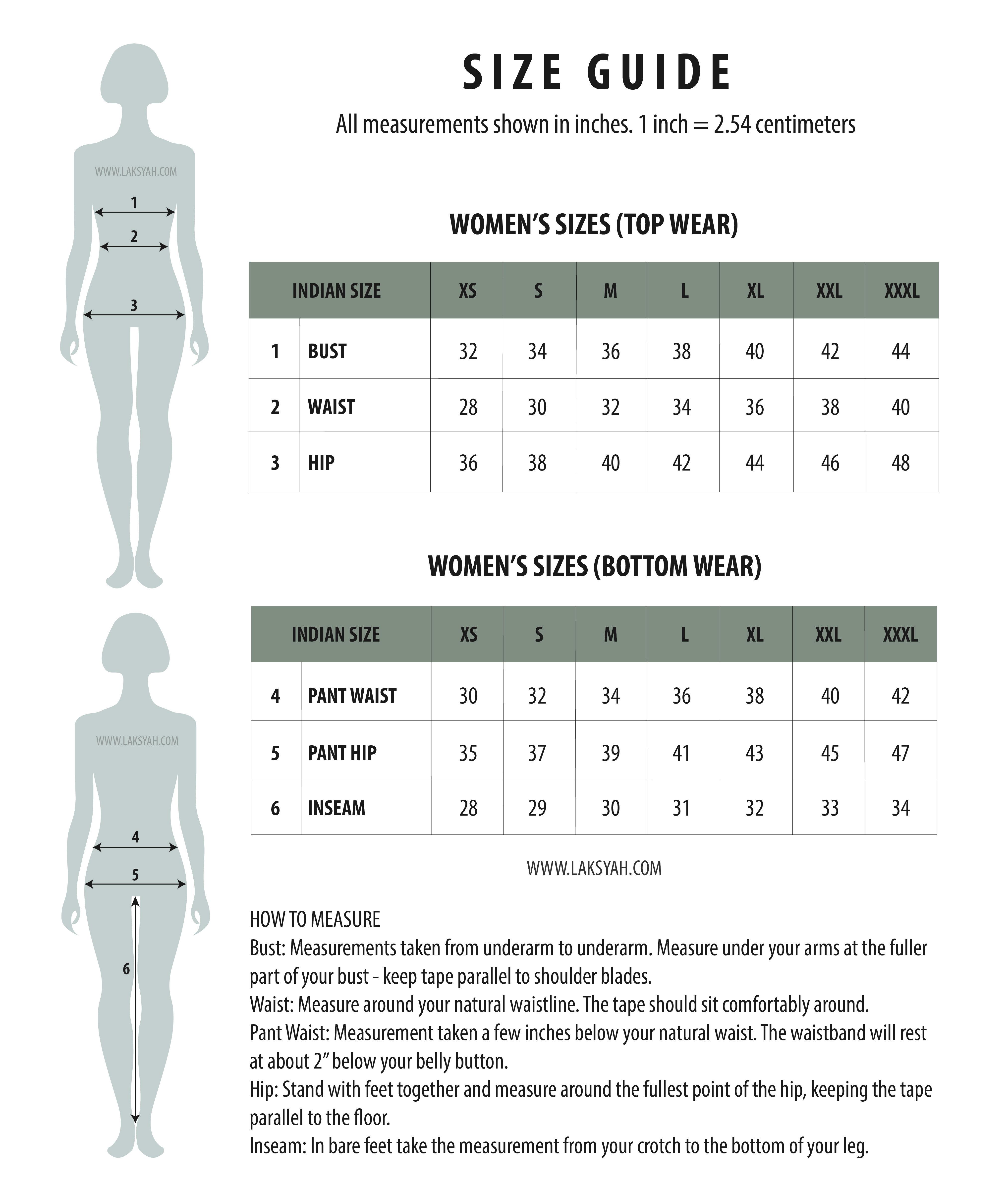Laksyah Size Guide Image Blouse Design In 2019 Saree Blouse