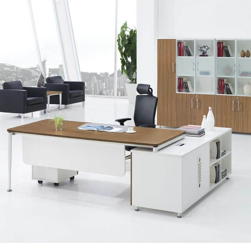Affordable Modern Desk: Cheap Price MDF Luxury Wood Office Furniture Modern