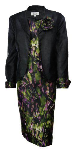 Le Suit Women's Grasslands Floral Jacket Dress Set Black Le Suit. $129.99