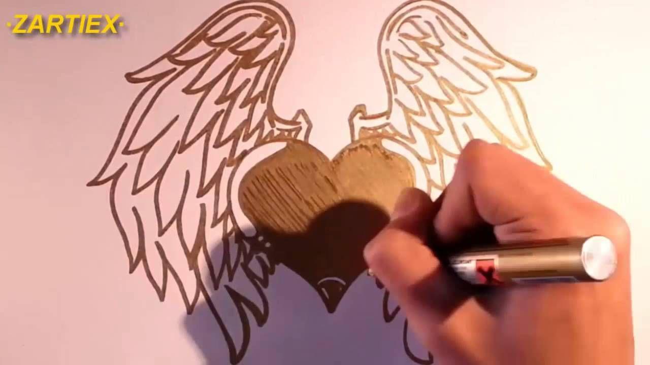 20 best o dibujar corazones o hacer un coraz³n con alas fácil y sencillo HD Nuevo 2016 images on Pinterest