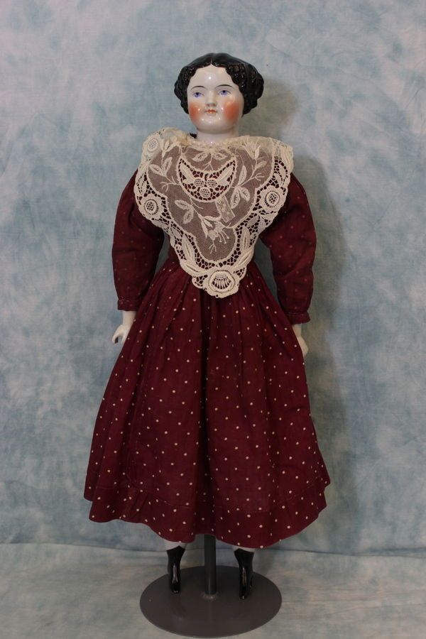 "Early 22"" Kestner 1860's China Head Doll Deep Shoulderplate Nice Example   eBay"
