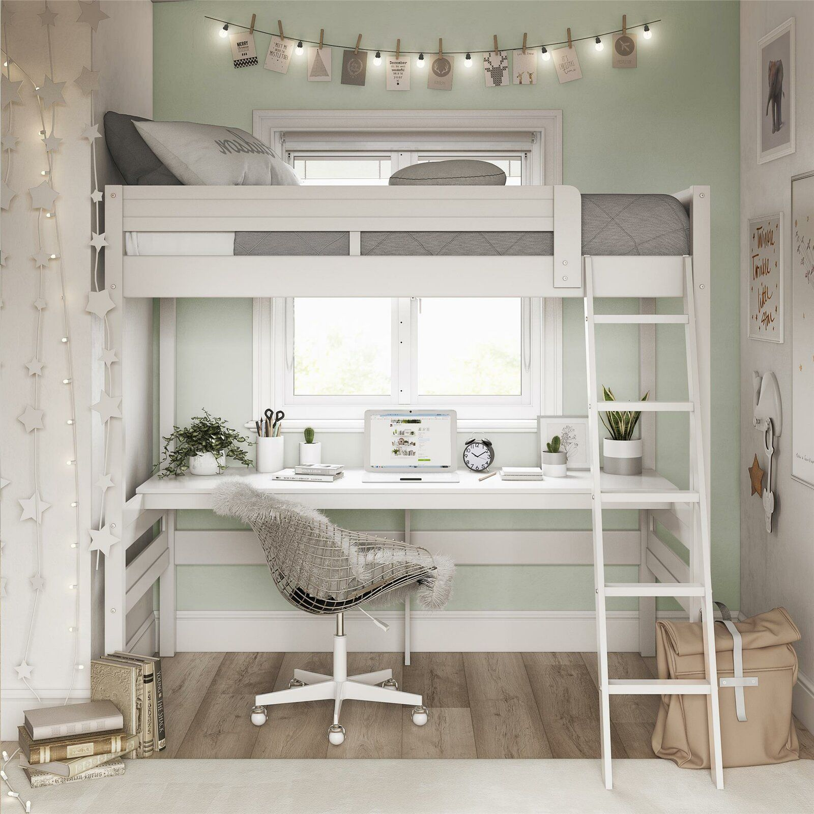 Alfred Twin Loft Bed with Desk in 2020 Twin loft bed