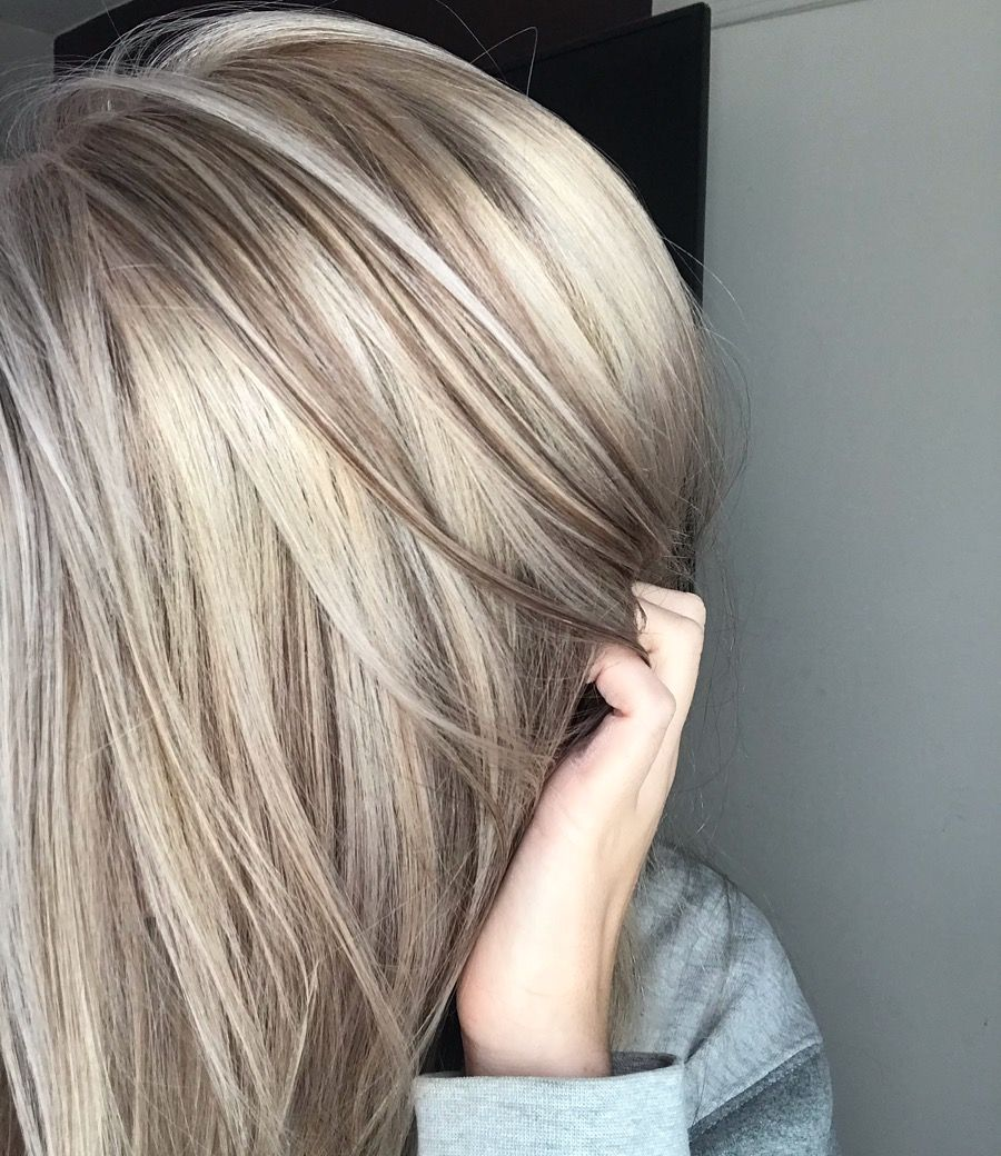 Fall Blonde Platinum Base With Alternating Lowlights Only On Top