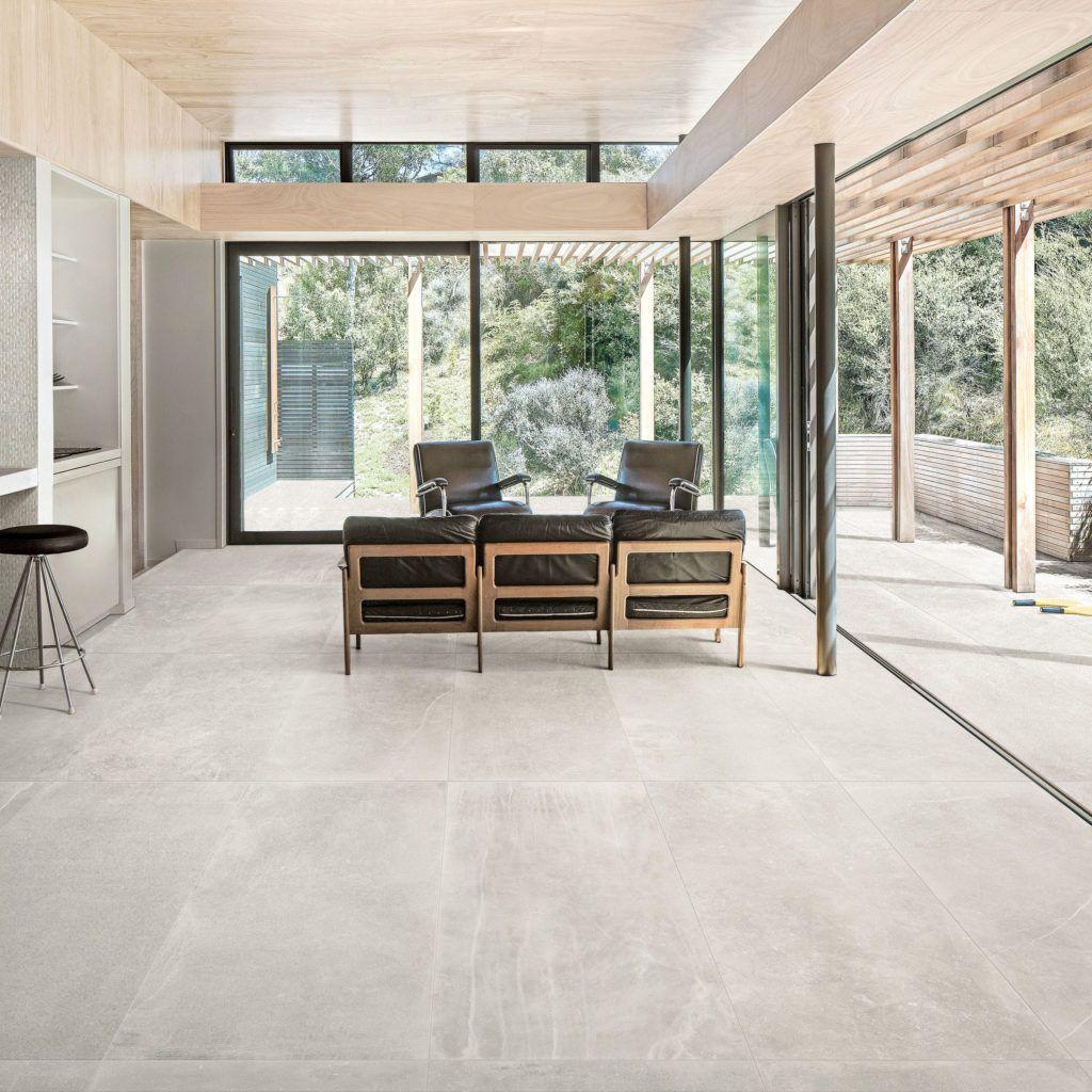 Fusion White Matt Porcelain Tile Mandarin Stone Living Room Tiles Tile Floor Living Room White Porcelain Tile #stone #floors #living #room