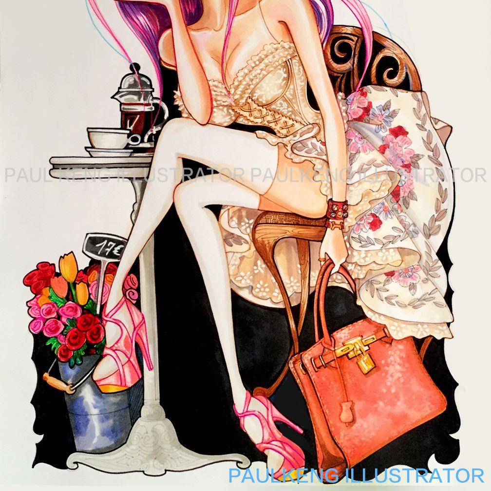 Fashion Illustration by Paul Keng @paulkengillustrator