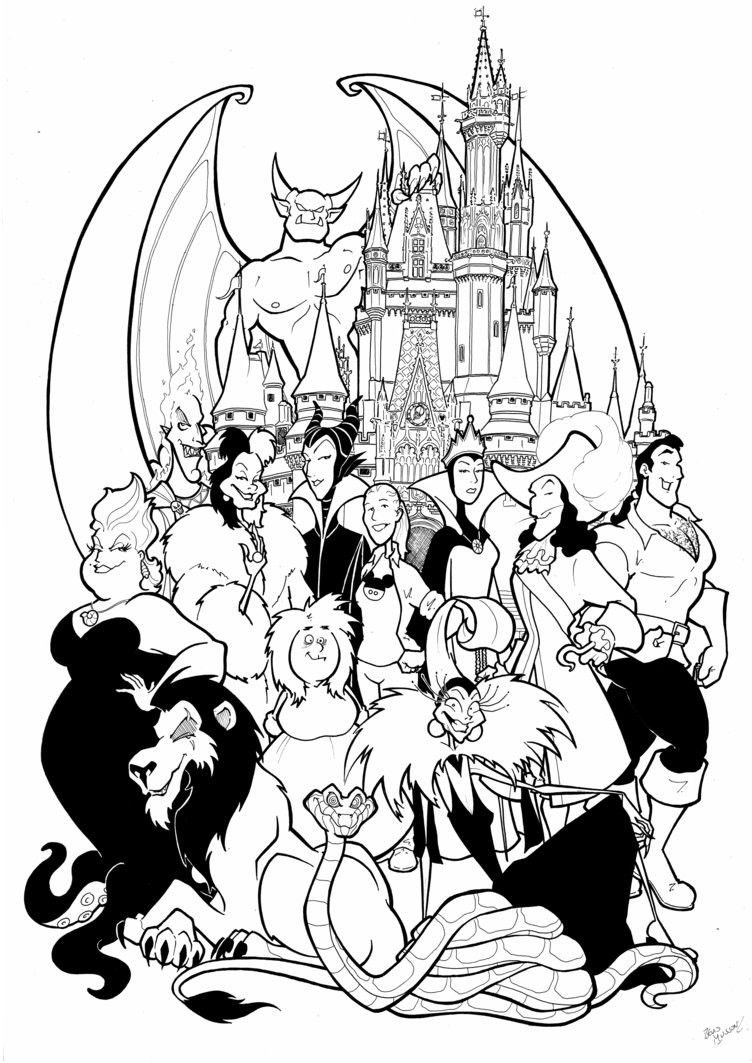 Maleficent Dragon Coloring Page - youngandtae.com  Disney