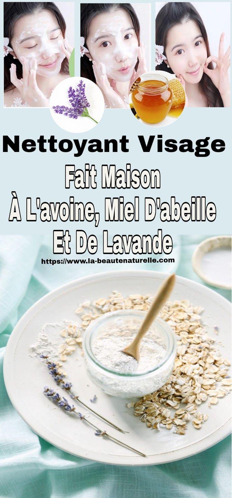 Nettoyant Visage fait maison à lavoine, miel dabeille et de lavande