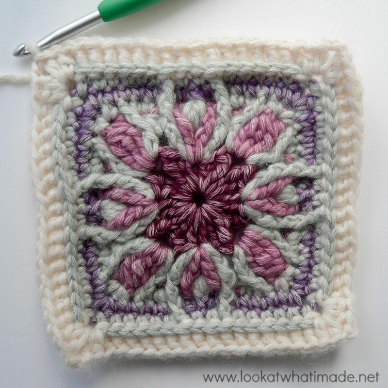 Winter Cottage Crochet Square | crochet hats | Pinterest