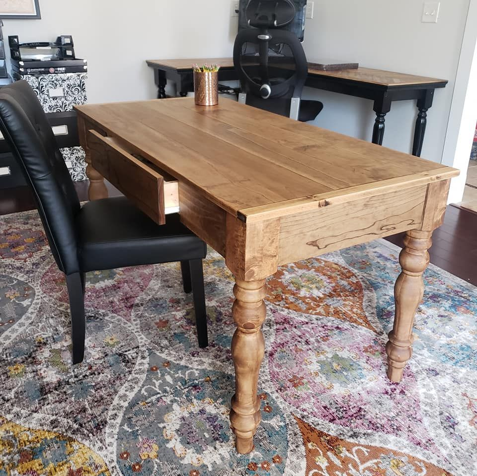 rustic farmhouse desk with drawers