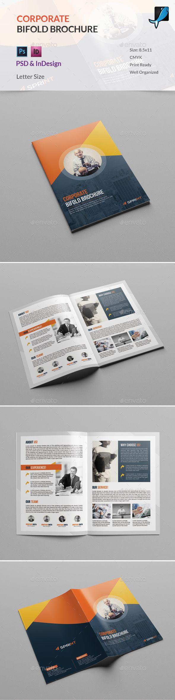 Corporate Bifold Brochure | Pinterest | Editorial, Diseño editorial ...