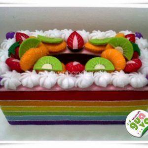 Tissue box Rainbow Cake 04   Kotak, Kain flanel, Kerajinan ...