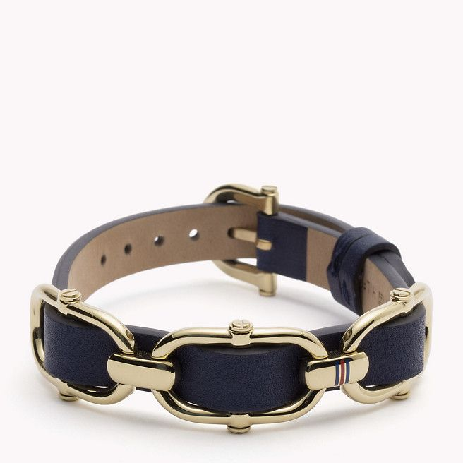 Tommy Hilfiger Hilfiger Leather Bracelet - navy (Blue) - Tommy Hilfiger Jewelry - main image