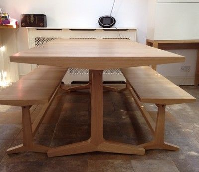 Habitat Parker Oak Dining Table And 2 Benches Oak Dining Table