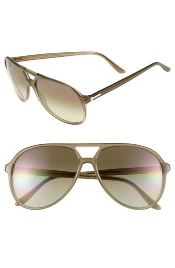 ba5608a0e82 Gucci 59mm Aviator Sunglasses. Retro-inspired plastic frames define ...