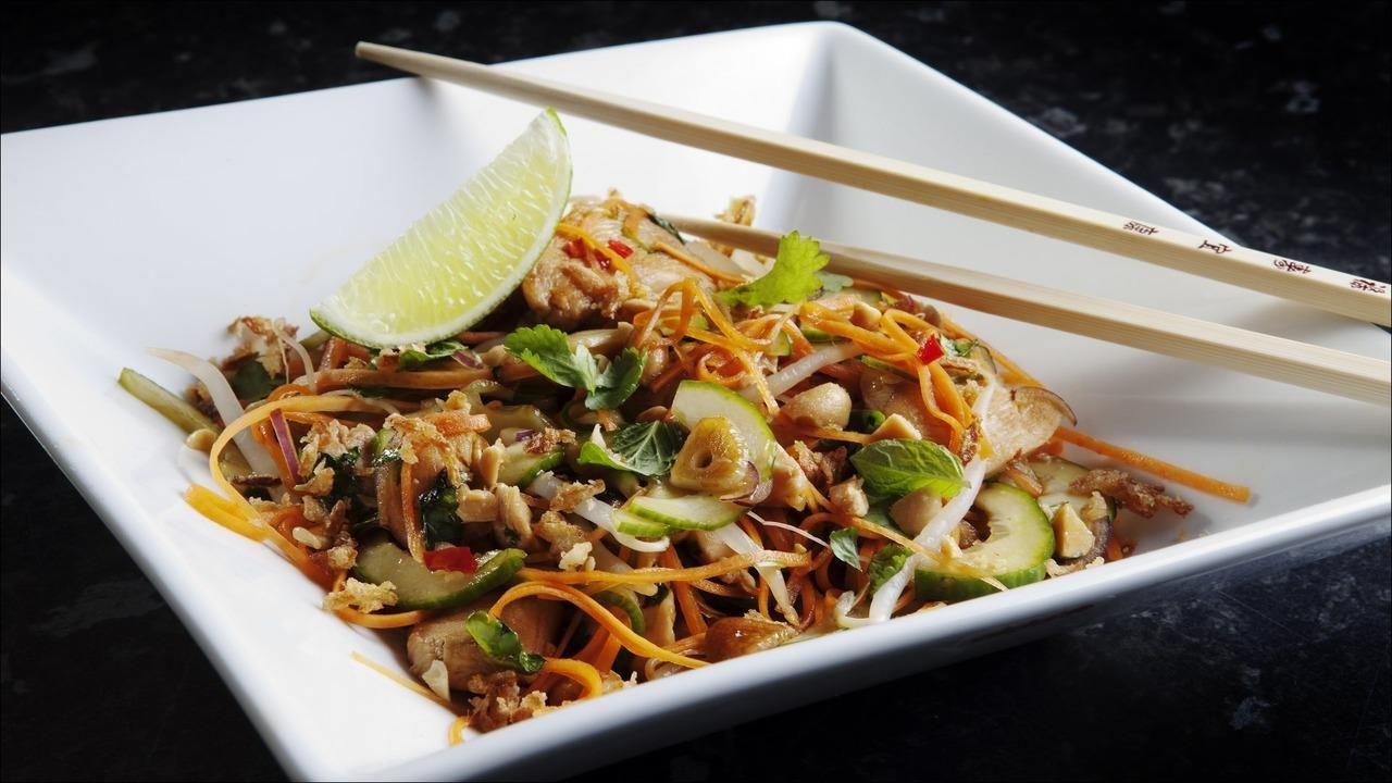 thai salat kylling