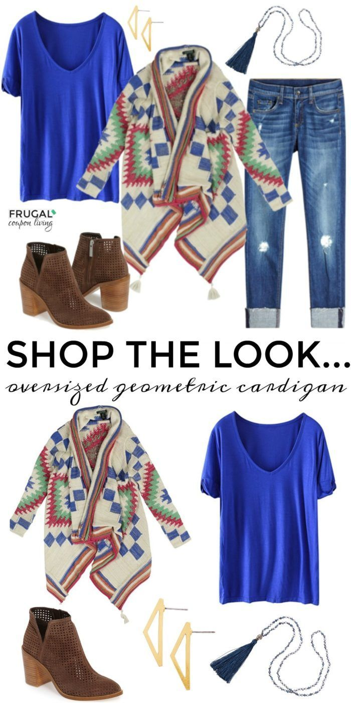 Frugal Fashion Friday Geometric Oversized Sweater Outfit | Frugal ...