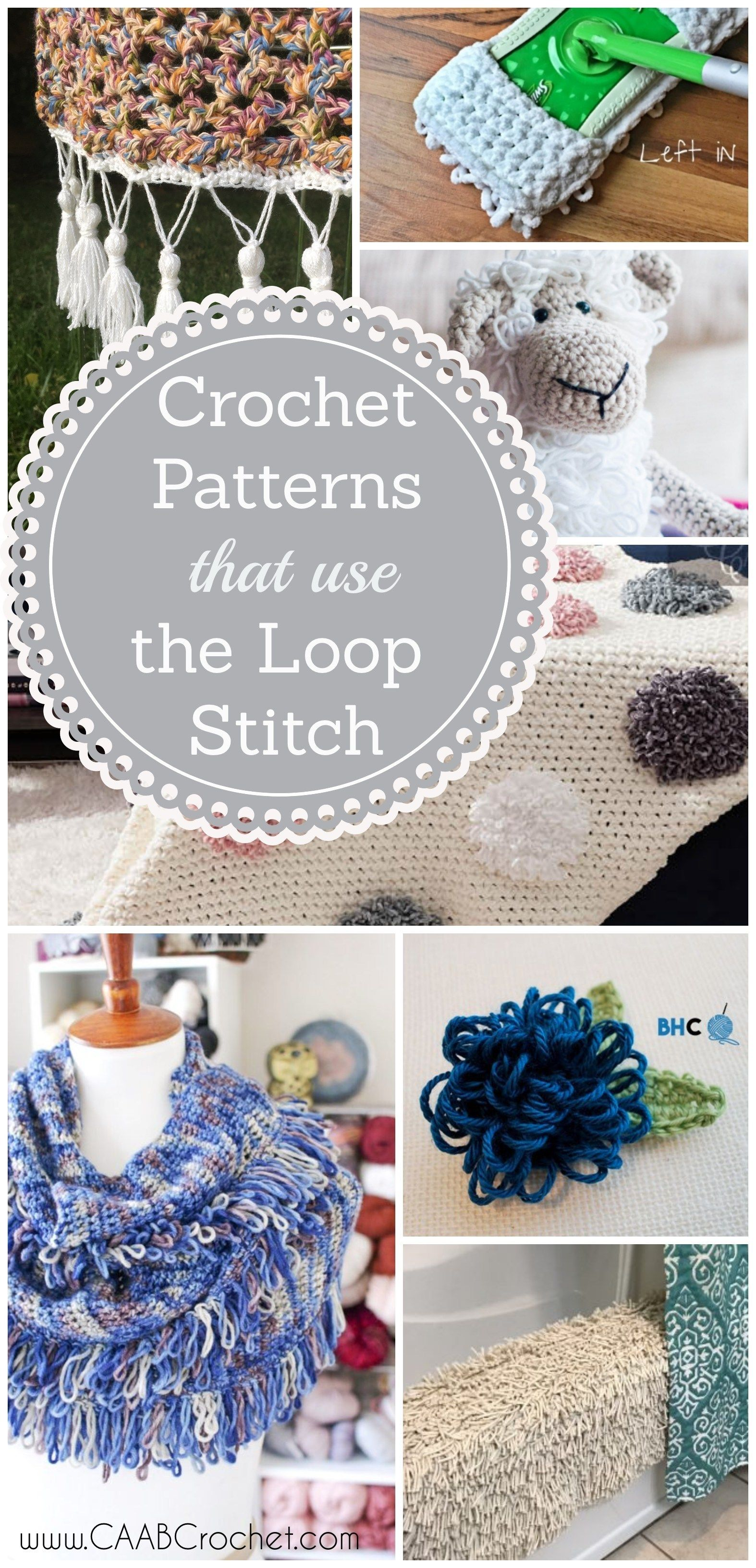 Patterns That Use The Crochet Loop Stitch Cute As A Button