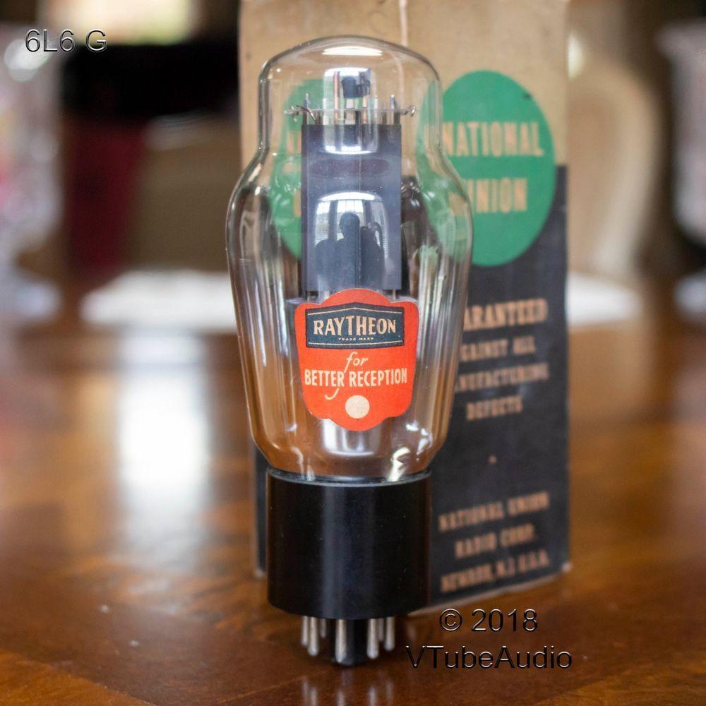 Rca 6l6g Vacuum Tube Branded Raytheon Coke Bottle Bottom D Foil