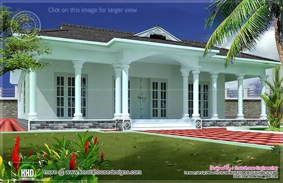 Single Floor Home Front Design Single Storey House Designs India