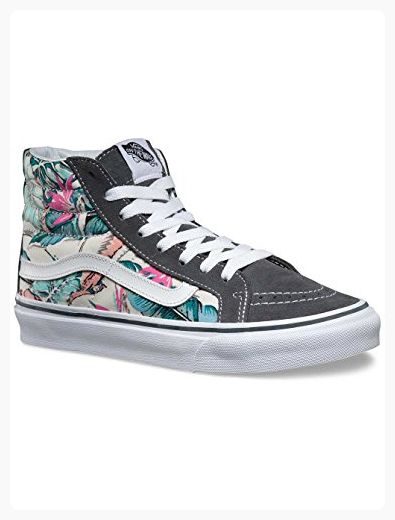 7042436a63 Vans Skate Fashion Sneakers SK8-Hi Slim - Multi   True White (Tropical) (11  B(M) US Women   9.5 D(M) US Men) ( Partner Link)