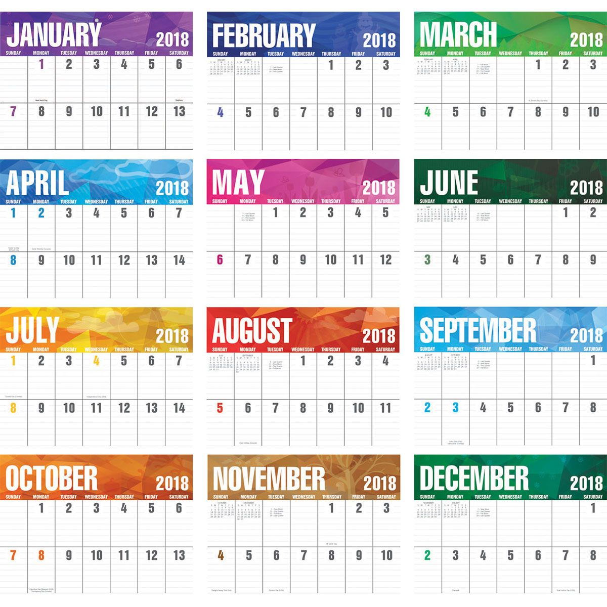 2018 big block calendar 2018 imprinted calendars 2018 calendar