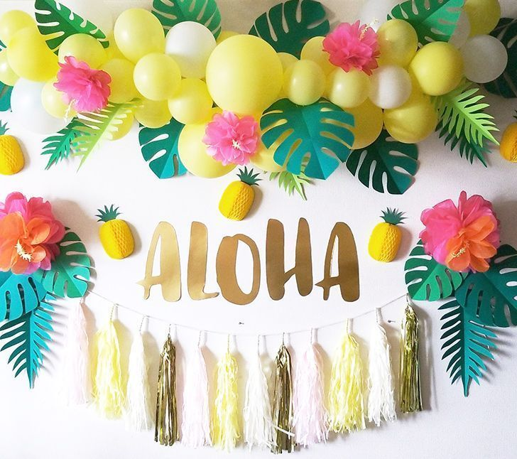 Aloha Hawaiian Tropical Decorating Party Decoration