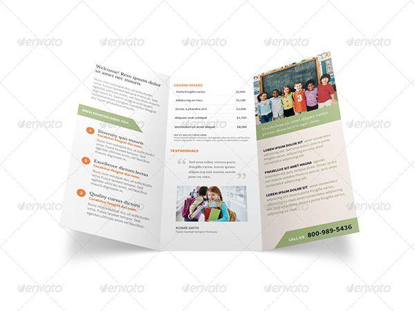 Brosur Sekolah Pendidikan Free Download Templates Brosur Lipat Tiga Brosur Aplikasi