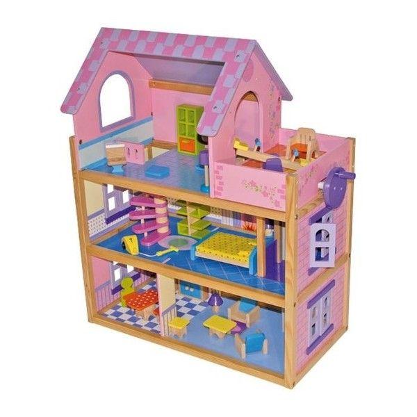 Poppenhuis rosafantastisch poppenhuis in klassiek design for Poppenhuis meisje