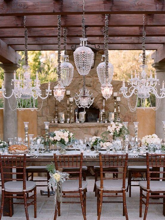 Darling!!! .... Wedding Decor: Hanging flowers, lanterns, chandeliers & lights - Wedding Party