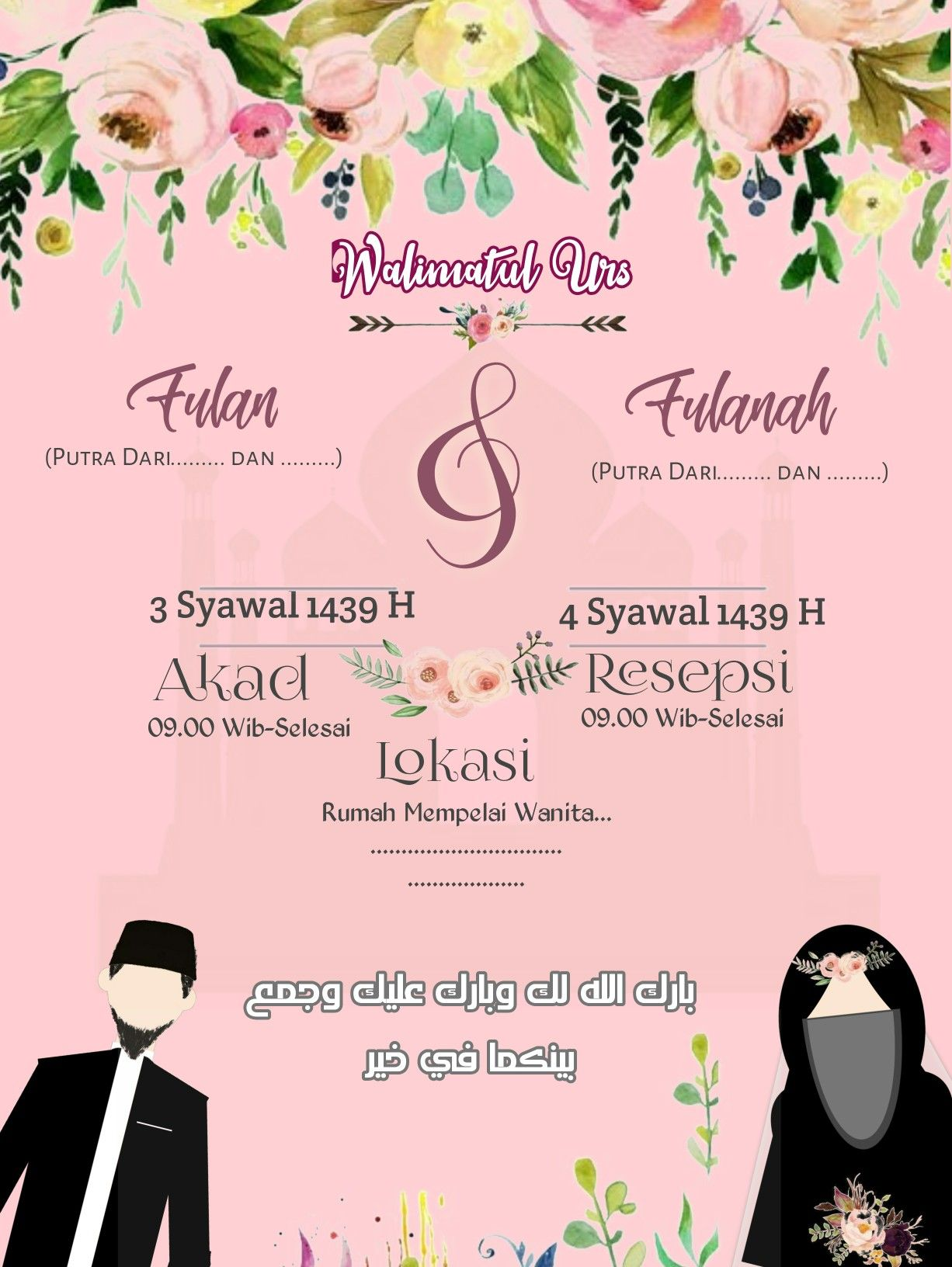 Undangan Pernikahan Digital Template Info Kece