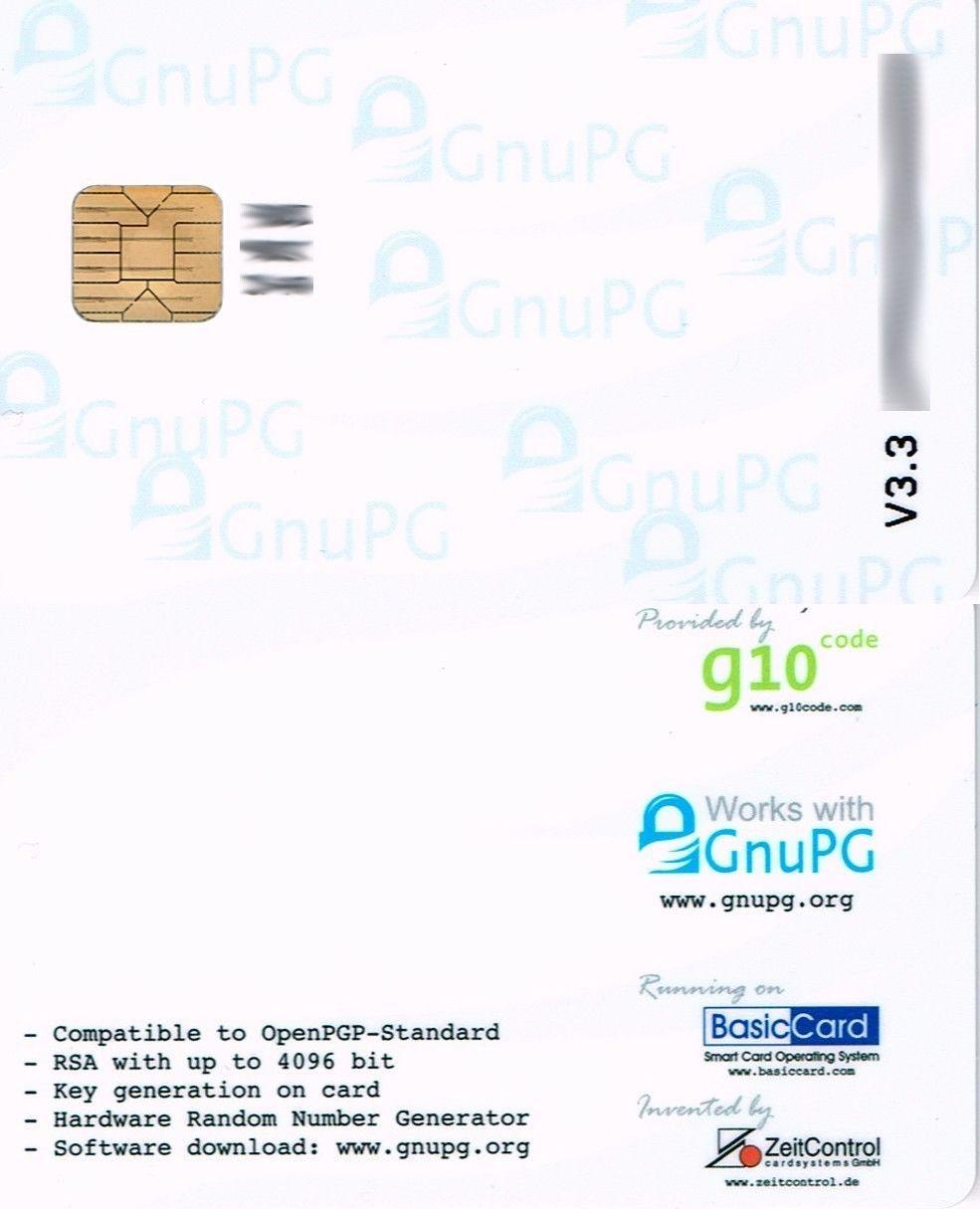 Other Laptop And Desktop Accs 31534 Openpgp Smart Card V3 3 Buy