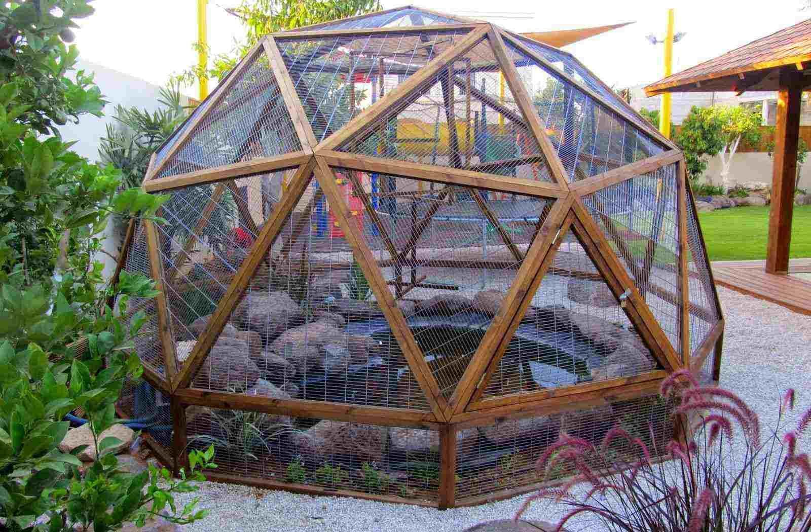 Wooden Geodesic Dome Decor Geodesic Dome Diy Greenhouse Bird