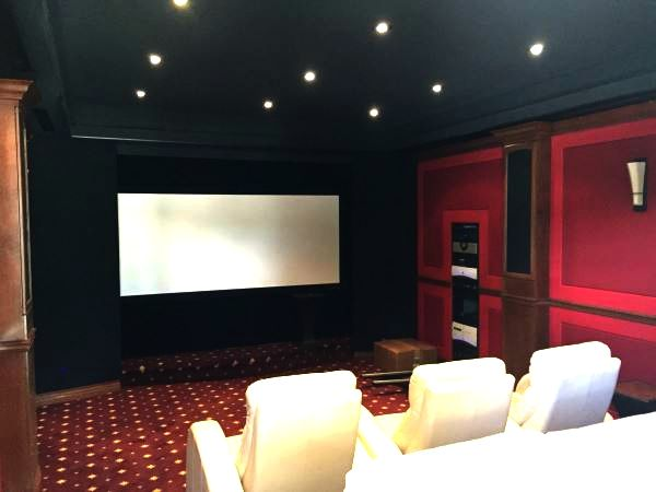 Fabritrak system installed in home theatre