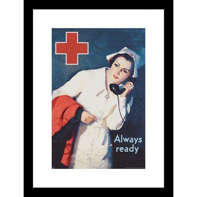 Buyenlarge Always Readyby Lawrence Wilbur Framed Vintage Advertisement