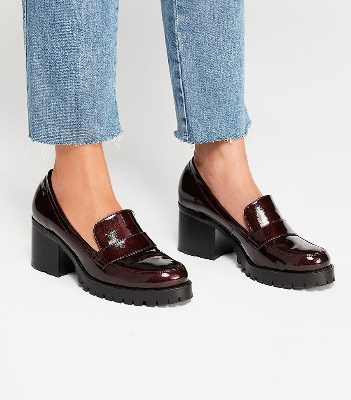 39832a0bb813 Loafers with heels are the winter shoe trend that s gaining steam right now.  See them in action and shop the best pairs here.