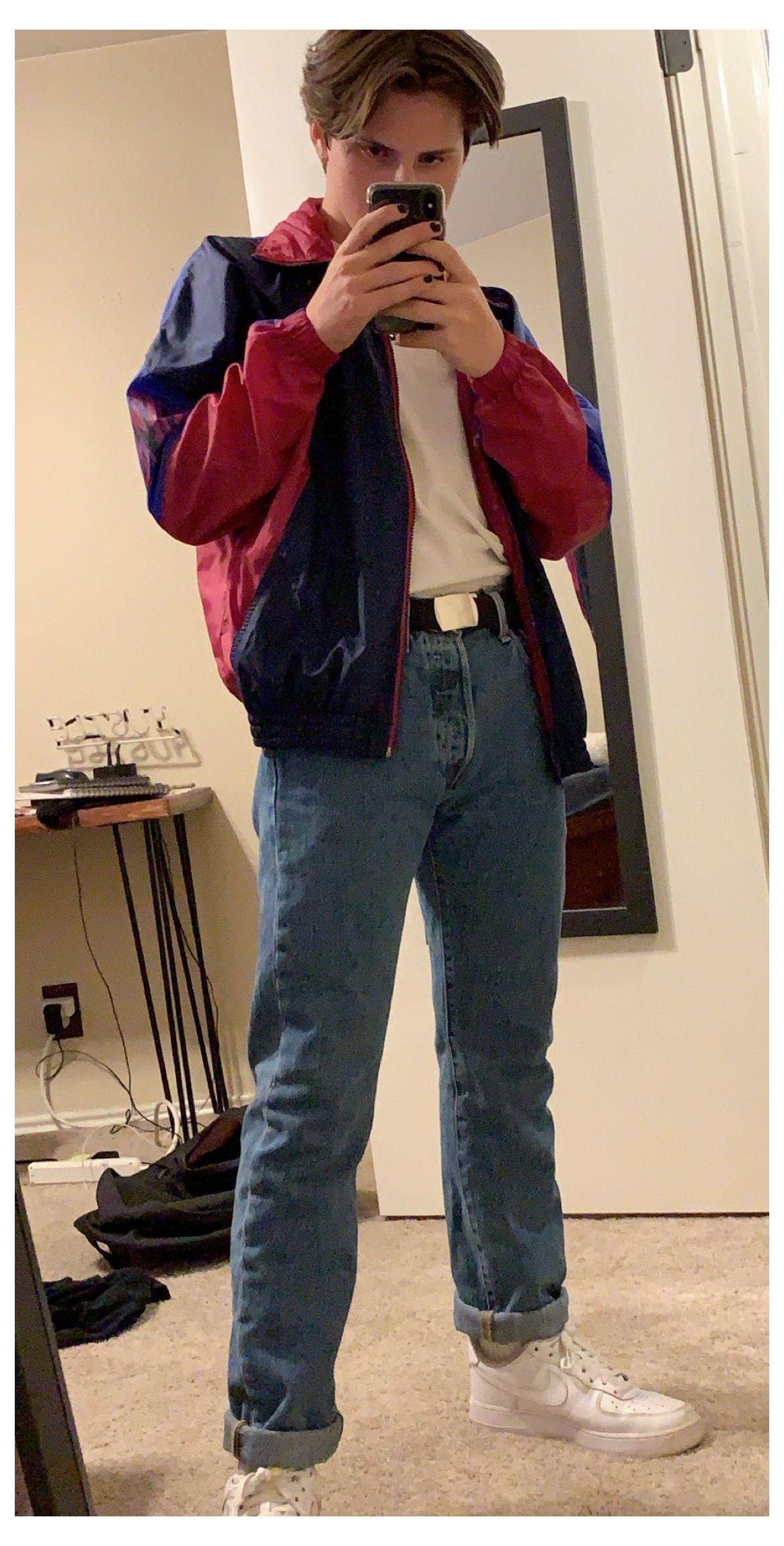 retro fashion mens 80s outfit