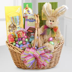 Send adorable easter basket full of all easter goodies to your loved easter bunny send adorable easter basket negle Choice Image