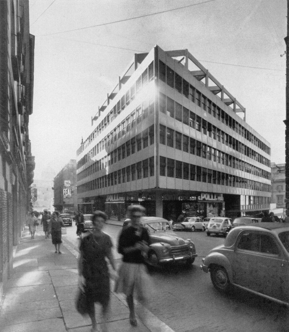 Edifico per uffici in via Torino, Roma, 1959. Con ...