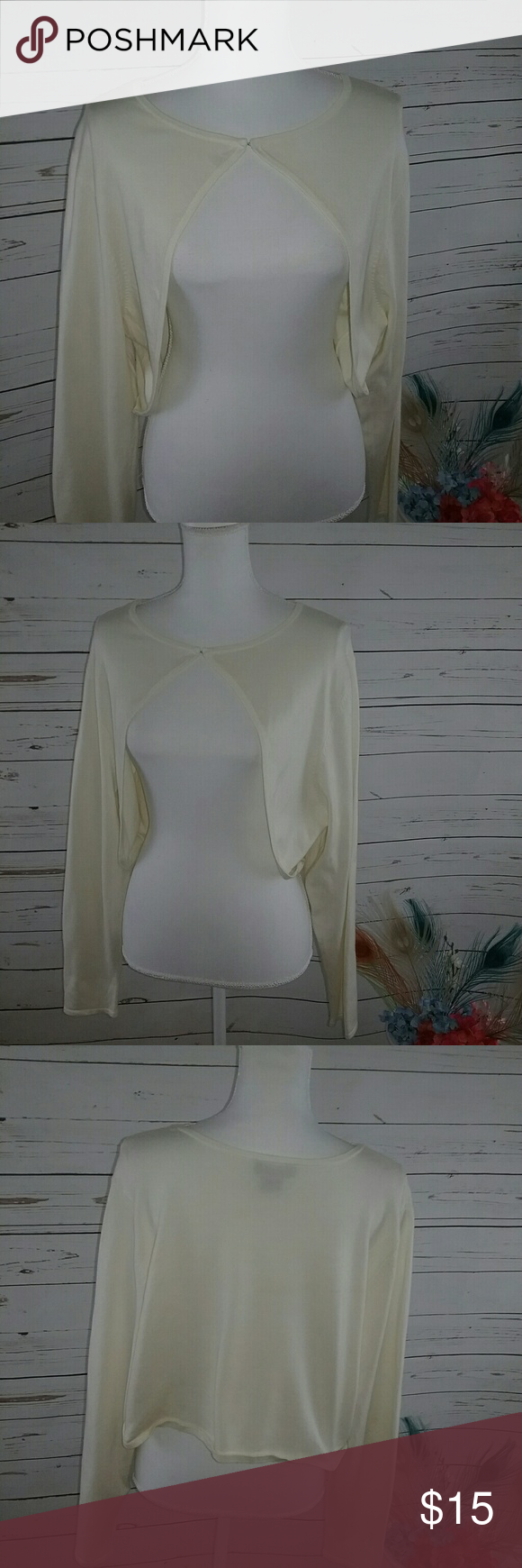 Lane Bryant Cream Sweater Shrug 22-24 Sz