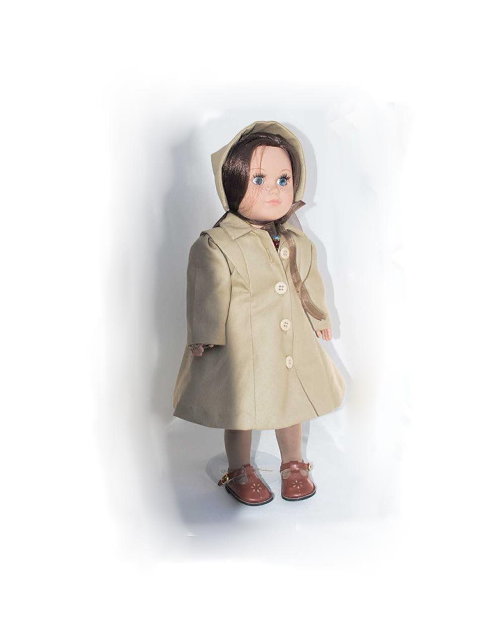 d4c5202ece8e 18 inch Girl Doll Winter Coat Easter Dress - Brown Mary Jane Shoes ...