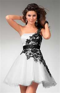 Black and White Prom Dresses | ImagesForFree.org