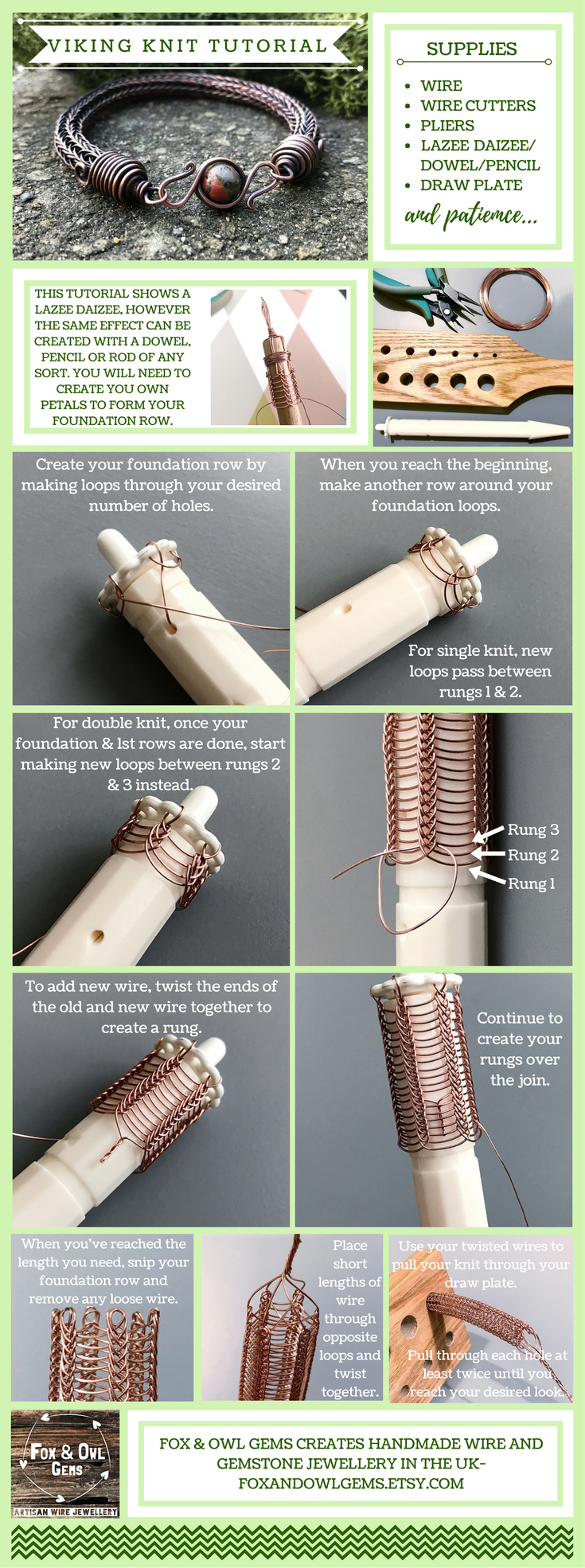 This is a very basic tutorial that shows how to create viking knit ...