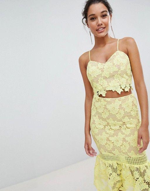 Cami Strap Lace Dress With Fluted Hem - Mink Love Triangle jhVMTMBlJ