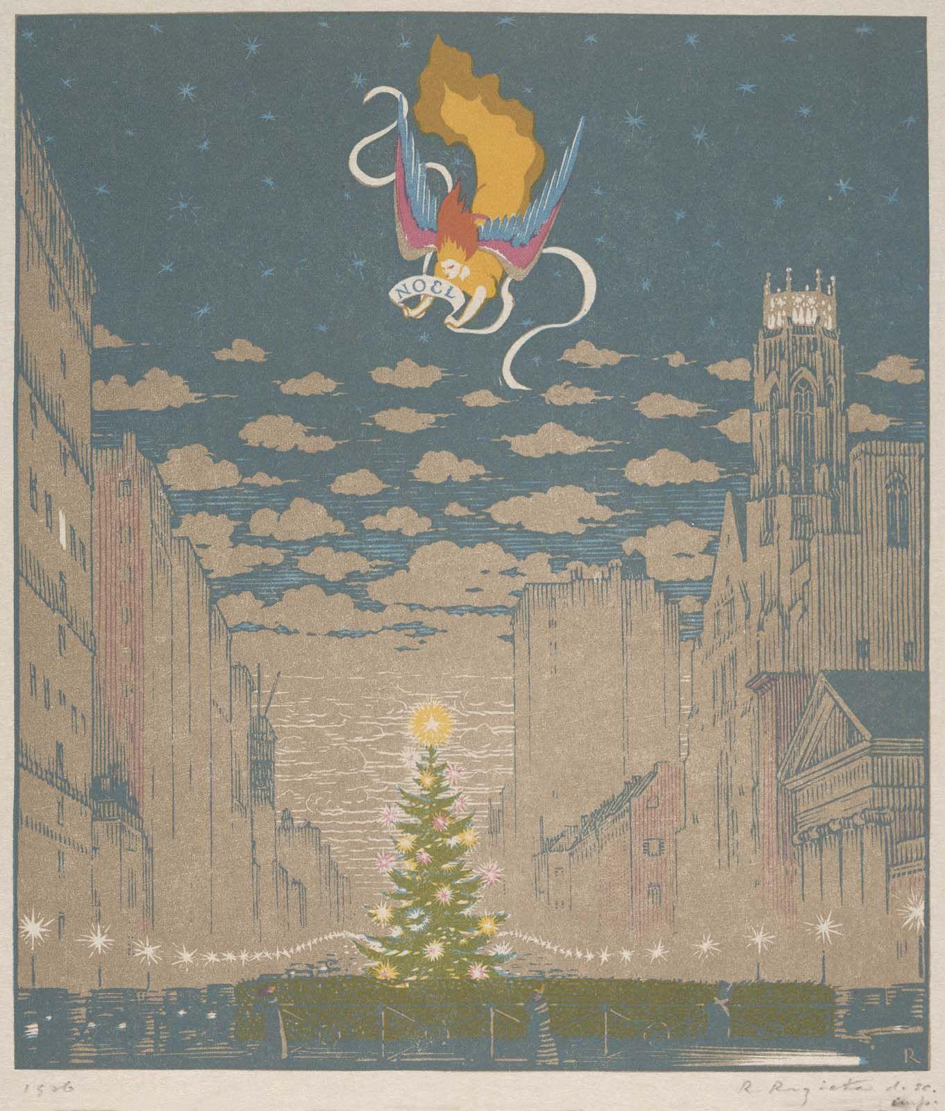 Christmas card, 1926: Noel | Museum of Fine Arts, Boston Christmas ...