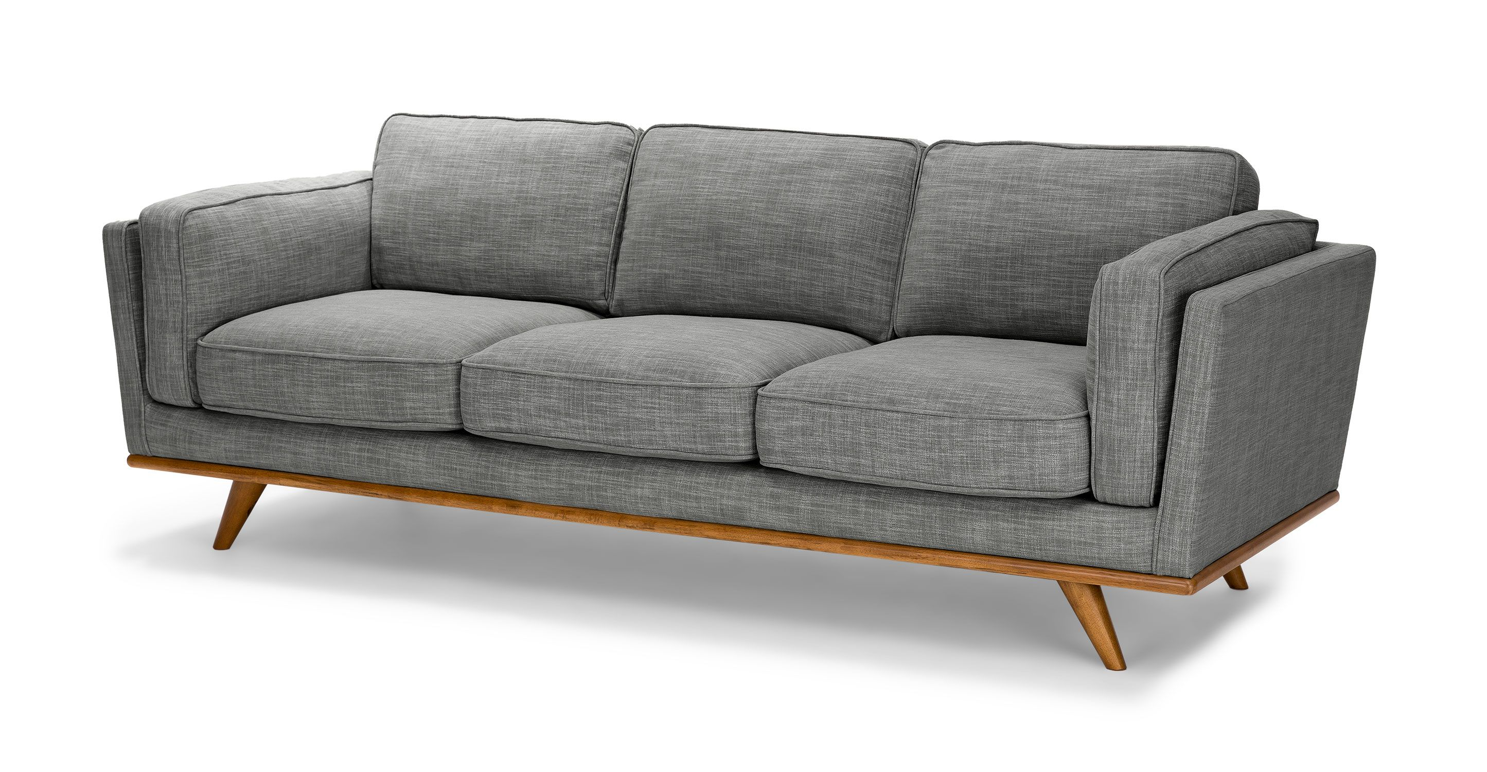 Article Timber Pebble Gray Sofa Baci Living Room