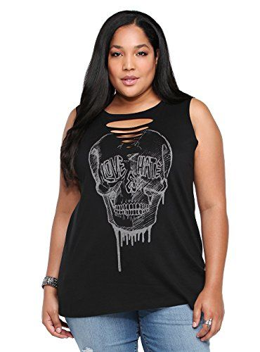usa cheap sale great look speical offer Women's Plus Size Skull T-Shirt Slash Front | DIY | Roupas