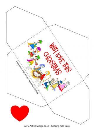 photograph relating to Christmas Envelopes Free Printable known as Xmas Economic Envelope Nativity Free of charge printable Xmas