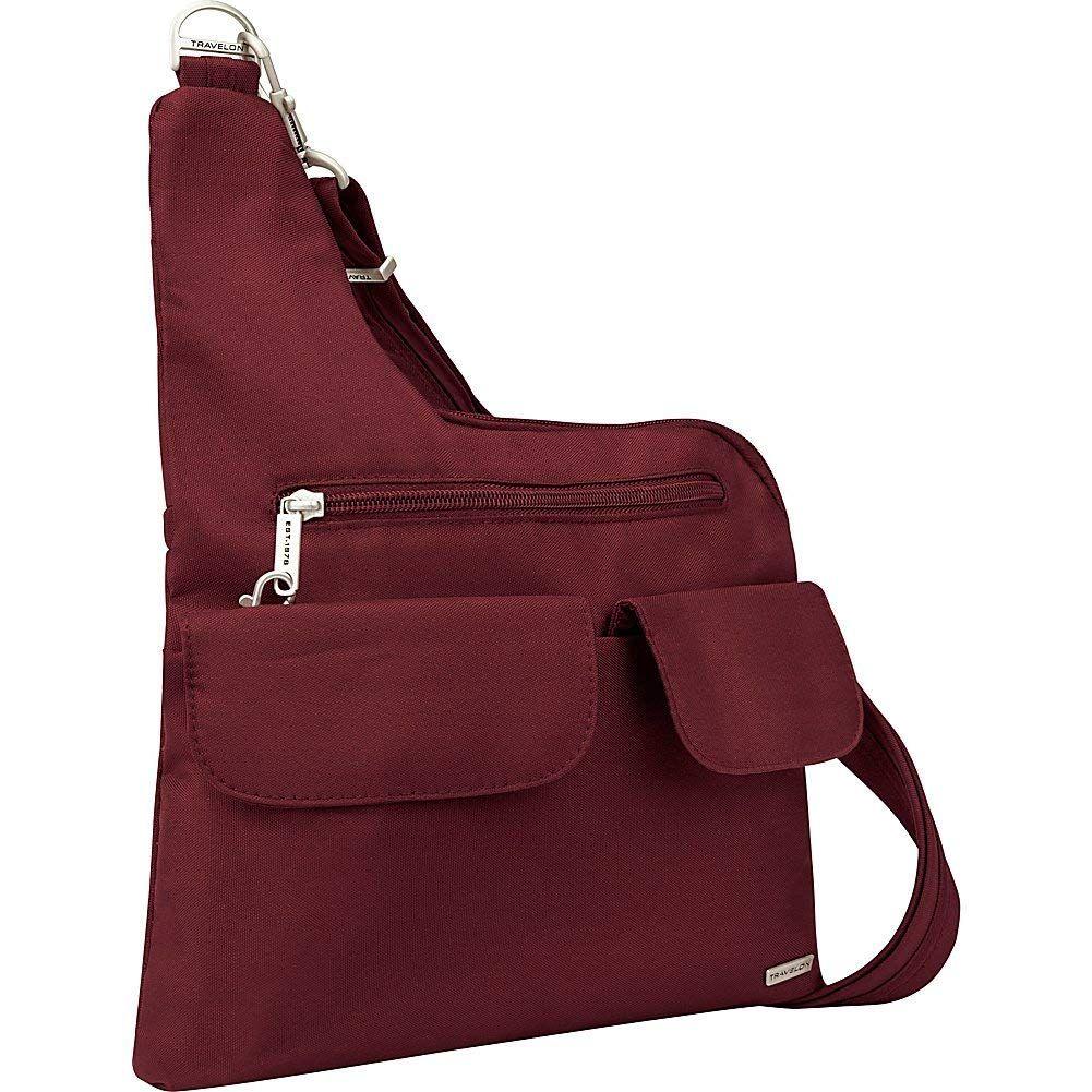 Amazon Com Travelon Anti Theft Classic Crossbody Bag Plum Clothing Classic Crossbody Bag Crossbody Bag Anti Theft Bag