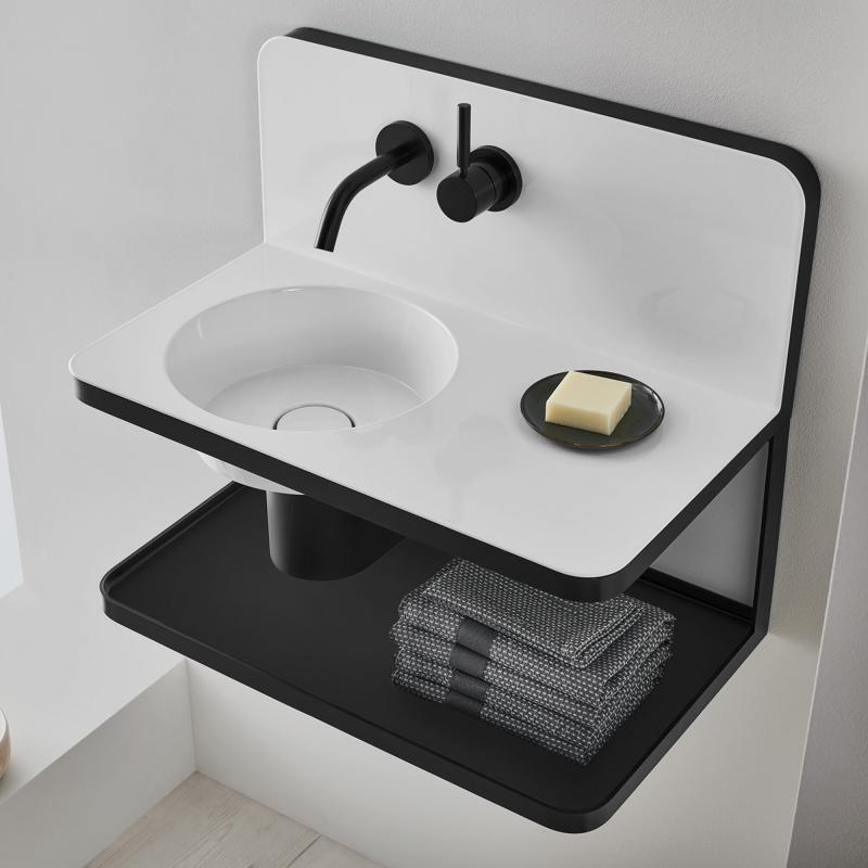 Alape Steel19 Waschplatz Mit Armatur 5260000000 Waschbecken Rund Armaturen Dusche Renovieren