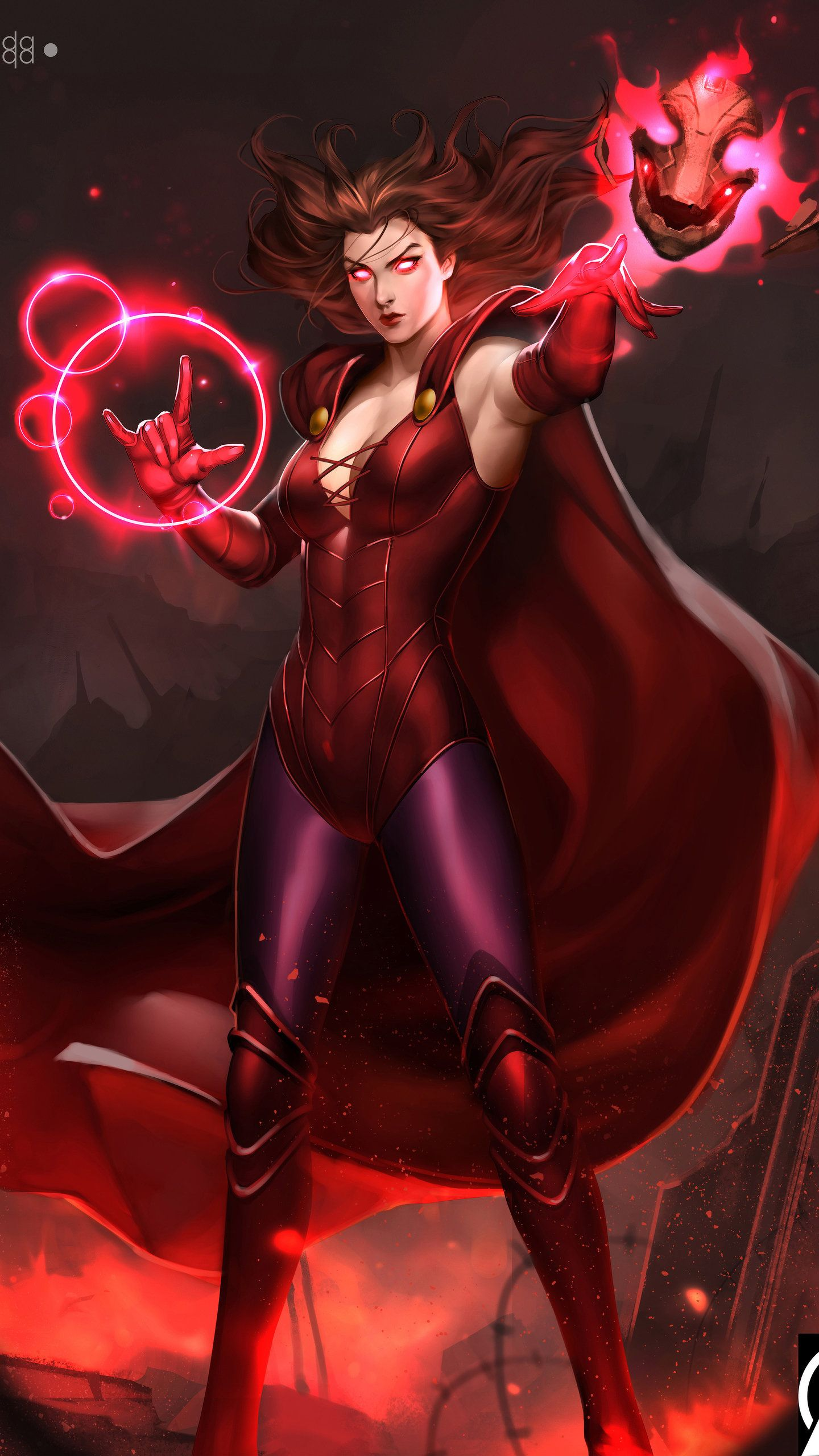 Scarlet Witch 4K Art HD Wallpaper in 2020 | Scarlet witch comic ...